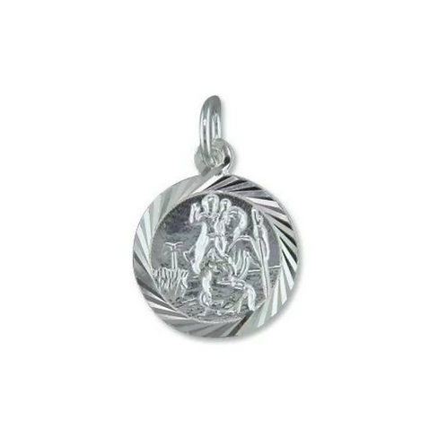 St Christopher, Sterling Silver 925, 14mm Diameter