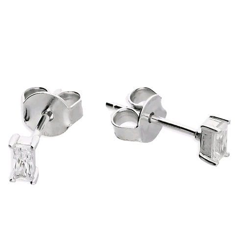 Sterling Silver 925, Cubic Zirconia Studs