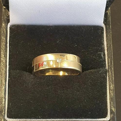 9ct Yellow Gold Hot Diamond Band Ring