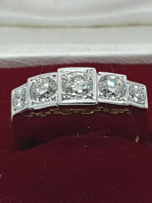 18ct & Platinum 5 Stone Diamond Ring