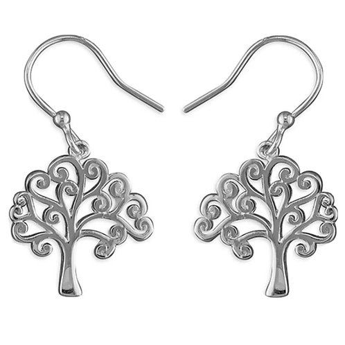 Tree Of Life Hook Drops, Sterling Silver 925