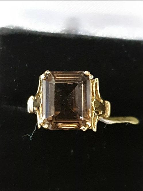 9ct smokey quartz ring