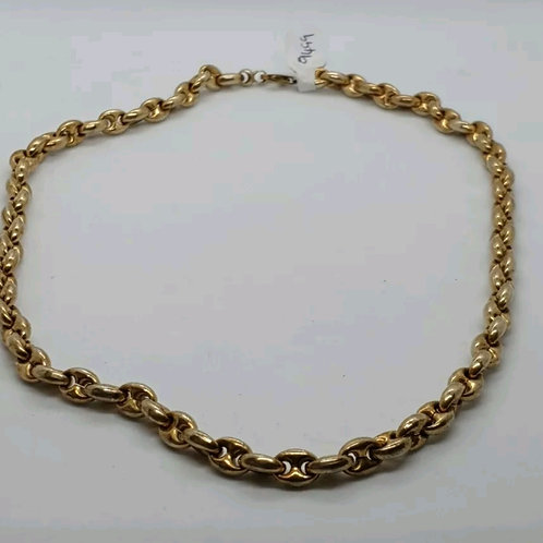 Sterling Silver 925, gucci link, Gold Plated.