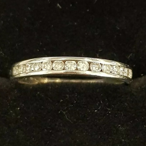 Platinum 33pts Diamond Half Eternity Ring