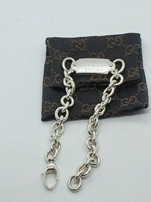 GUCCI Bar / ID Bracelet Full Hallmarked. 9 inch long.