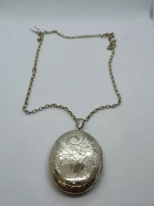 Locket And Chain, Sterling Silver 925