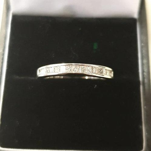 14ct Princess Diamond Half Eternity Ring