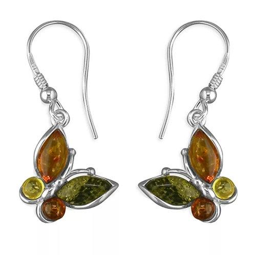 Amber & Sterling Silver 925 Earrings