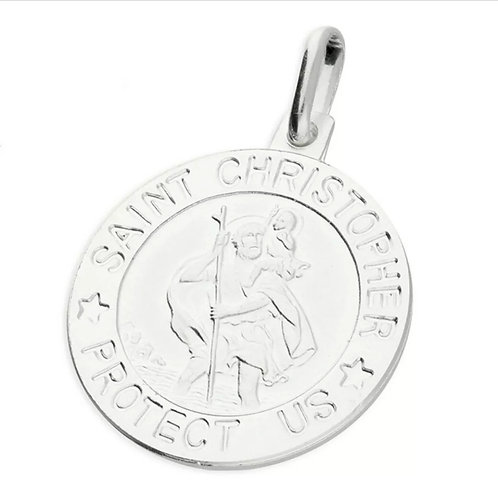 St Christopher, Sterling Silver 925, Modern.