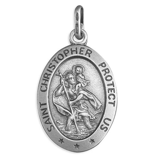 St Christopher, Sterling Silver 925, Oval,