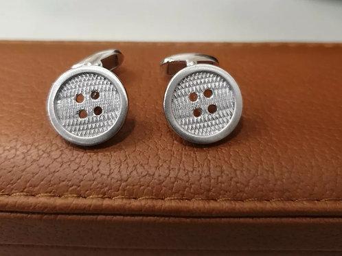 BRAND NEW Sterling Silver Button Cufflinks