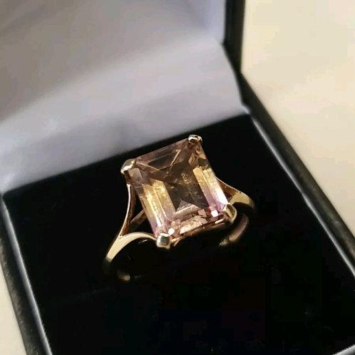 9ct Bi Colour Quartz Ring