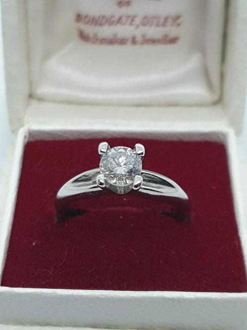 18ct Diamond Solitaire, 73pts, White Gold