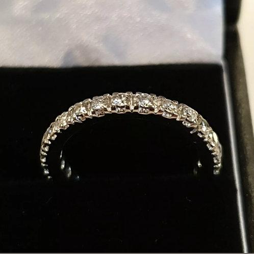 18ct White Gold Full Diamond Eternity Ring