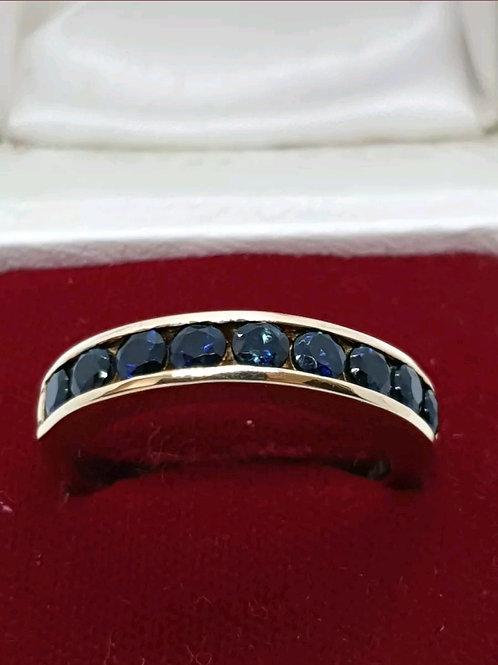 18ct Yellow Gold Sapphire Eternity Ring