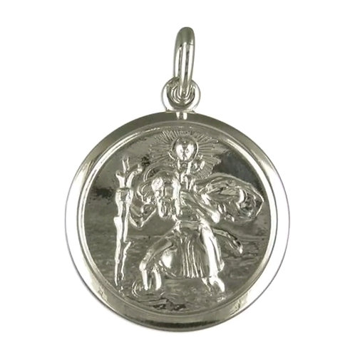 St Christopher, Sterling Silver 925, Double Sided