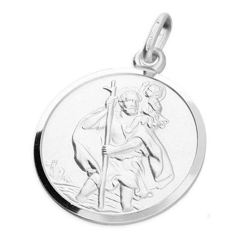 St Christopher, Sterling Silver 925, 20mm Diameter