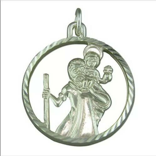 St Christopher, Sterling Silver 925.