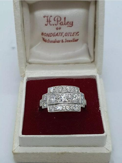 "Platinum ""Art Deco"" style diamond ring"