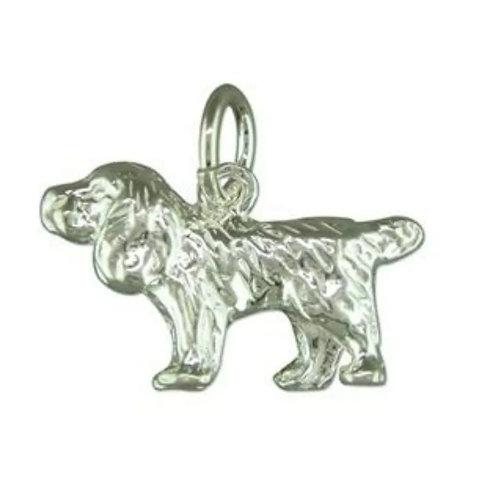 Dog, Spaniel, Sterling Silver 925 Pendant