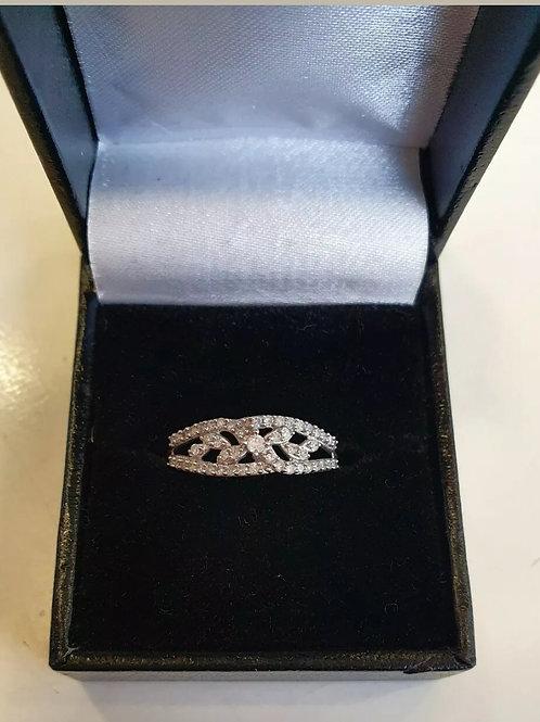 9ct White Gold Diamond Fancy Ring