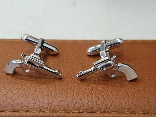 BRAND NEW Sterling Silver Gun Cufflinks