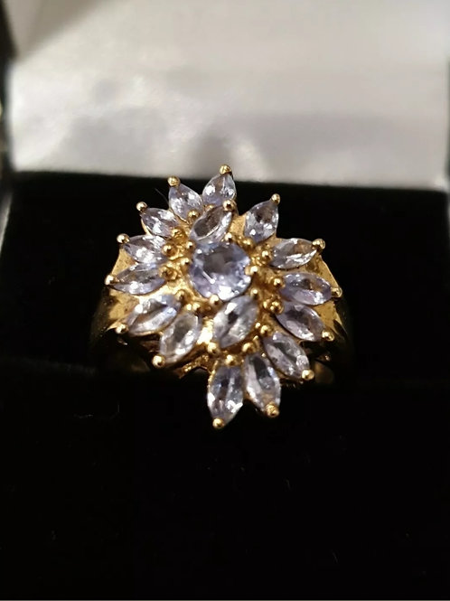 9ct Yellow Gold, Tanzanite Dress Ring