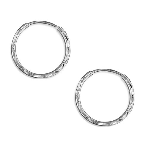 Sleepers, Sterling Silver 925, 15mm, Brand New