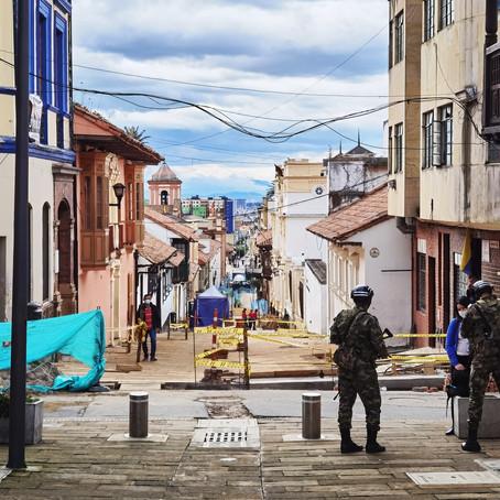 Bogota pod rouškou. (Den 1)