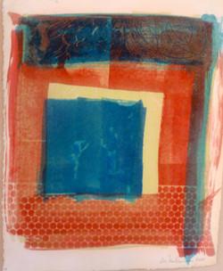 The Bathers; gum bichromate print