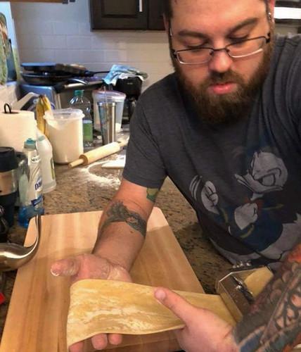 Making pasta at home #nodaysoff #truecoo