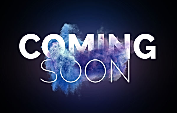 Coming Soon Text in Blasting Effect on B