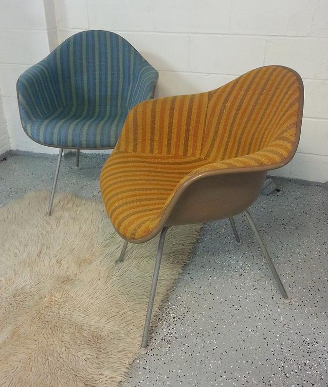 Eames Fiberglass Arm Shell Chair. Pair Of Herman Miller ...
