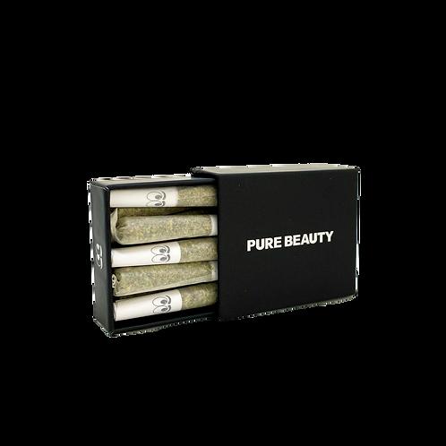 Pure Beauty - Black Box (H) Mini Pre-Rolls (10 Rolls - 1/8oz)