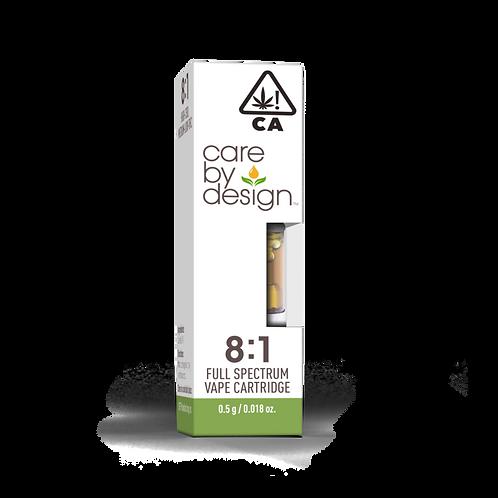 Care by Design - 8:1 CBD:THC Cartridge (1/2 Gram)