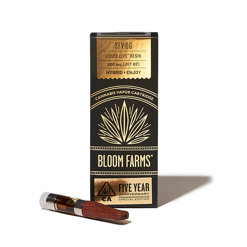 Bloom Farms - SFV OG (H) Liquid Live Resin Cartridge (1/2 Gram)