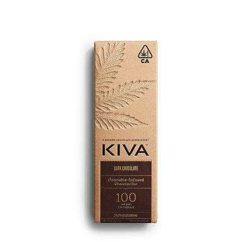 KIVA - Dark Chocolate Bar (100mg THC)
