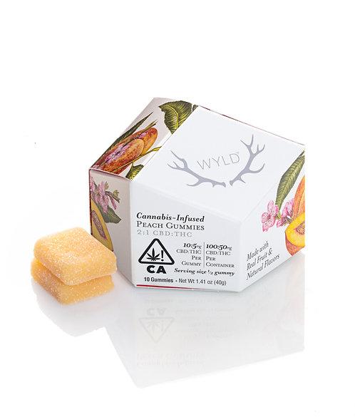 Wyld - Peach Gummies (H) (100mg CBD + 50mg THC)