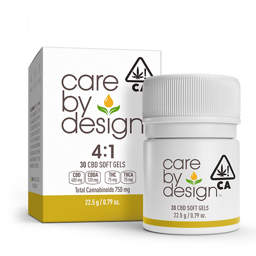 Care by Design - 4:1 Soft Gels (30 Count) (300mg CBD + 75mg THC)