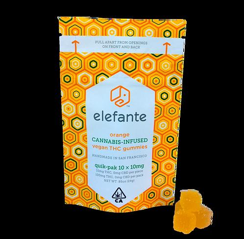 Elefante - Vegan Gummies - Orange (100mg THC)