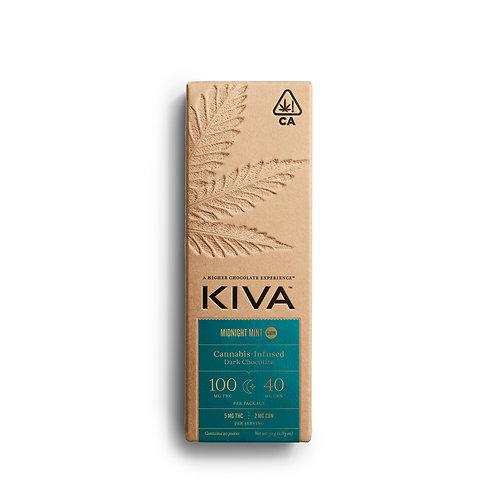KIVA - Midnight Mint Dark Chocolate CBN Bar (100mg THC / 40mg CBN)