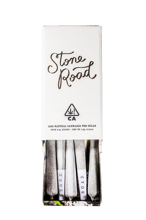 Stone Road - Banana Split (SH) Pre-Rolls (5 Pack of Rolls - 1/8 Oz.