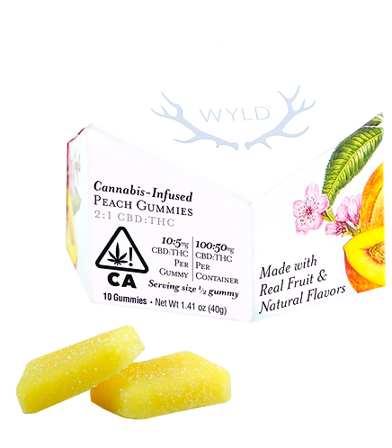 Wyld - Peach Gummies (H) (100mg CBD + 50mg THC)