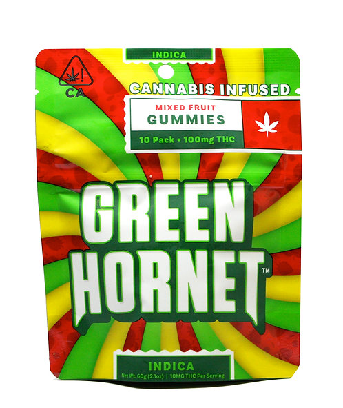 Green Hornet - Indica (100mg THC)