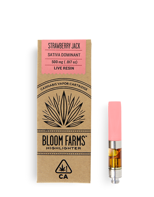 Bloom Farms - Strawberry Jack (S) Live Resin Cartridge (1/2 Gram)