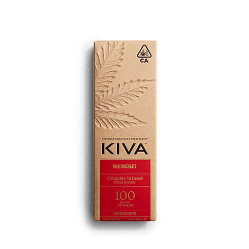 KIVA - Milk Chocolate Bar (100mg THC)