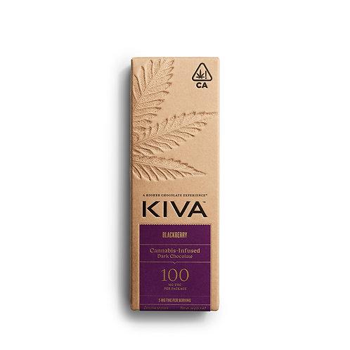 KIVA - Blackberry Dark Chocolate Bar (100mg THC)