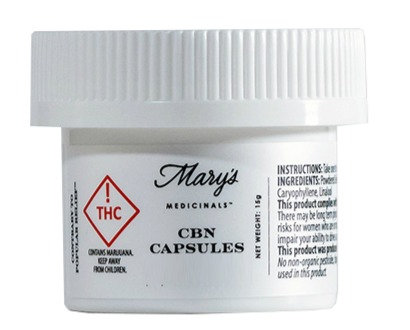 Mary's Medicinals - CBN Capsules (5 Count / ≈50mg CBN Total)