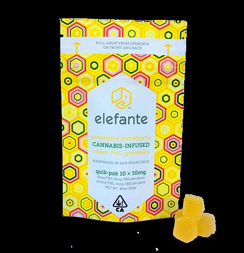 Elefante - Vegan Gummies - Pineapple Strawberry (100mg THC)