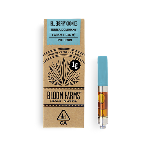 Bloom Farms - Blueberry Cookies (I) Live Resin Cartridge (1 Gram)